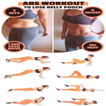Abs workout to loose belly pooch, belly workout,