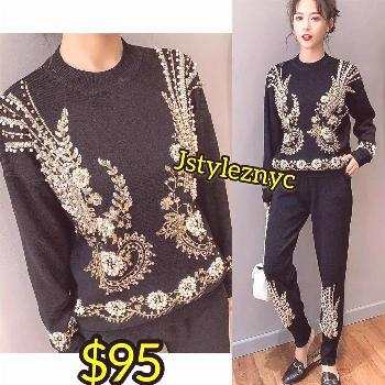 BEADED LUXE SET. @jstyleznyc  LUXURY SET AVAILABLE IN 5days  Price - $95 Size - S - Xxl Colors - sa