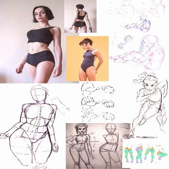 Body Structure Ref 1 My first body structure ref page to keep you inspired while drawing bodies!
