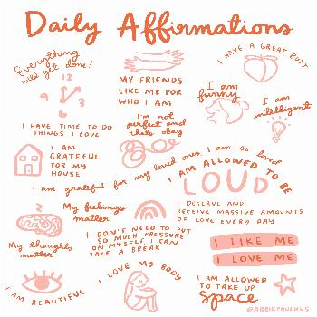 Daily affirmations - @abbiepaulhus Daily affirmations and encouragement