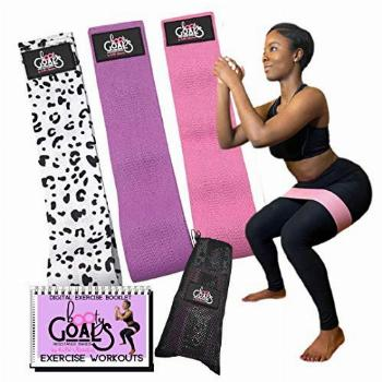 KAW Fitness -3pc Booty Resistance Bands Set for Women |
