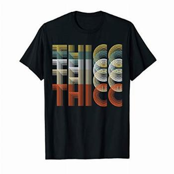Retro Thicc Body Positivity 60s 70s T-Shirt For Women