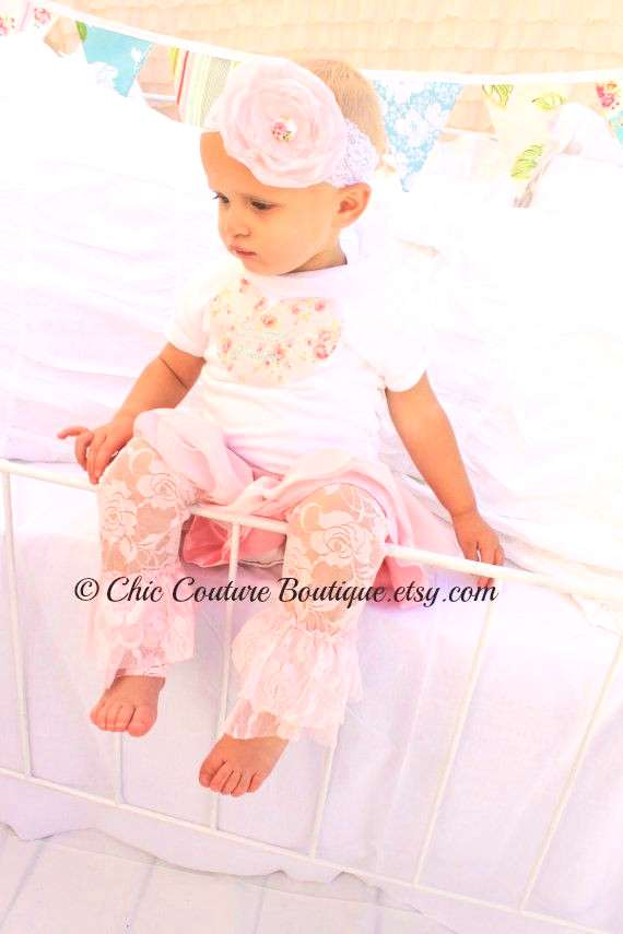 Baby Girl Personalized Heart T-Shirt or Bodysuit. Big Sister Matching, 1st Birthday Outfit Cake Sma