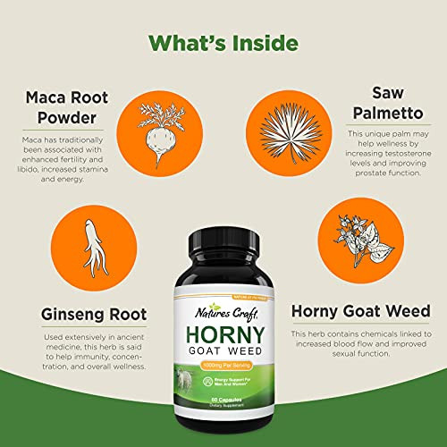 Horny Goat Weed Herbal Complex Extract for Men and Women –
