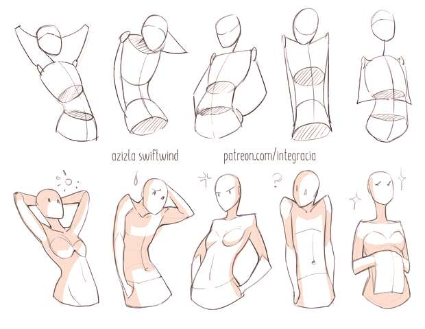 No Hands Poses 3 Drawing reference practice human body anatomy tutorial female male man woman stand