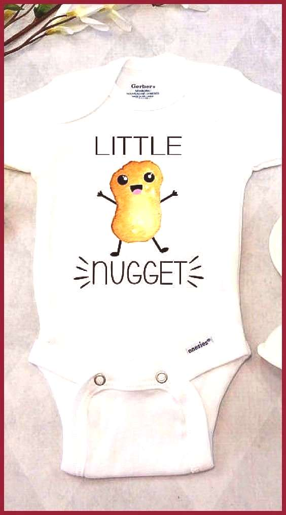 Nugget Onesies Brand or Carter s Bodysuit Fast Food Baby Shirt Funny Baby Clothes Unisex Foodie B