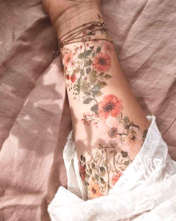 The most personalized tattoo design for flowers - BEAUTIFUL LIFE